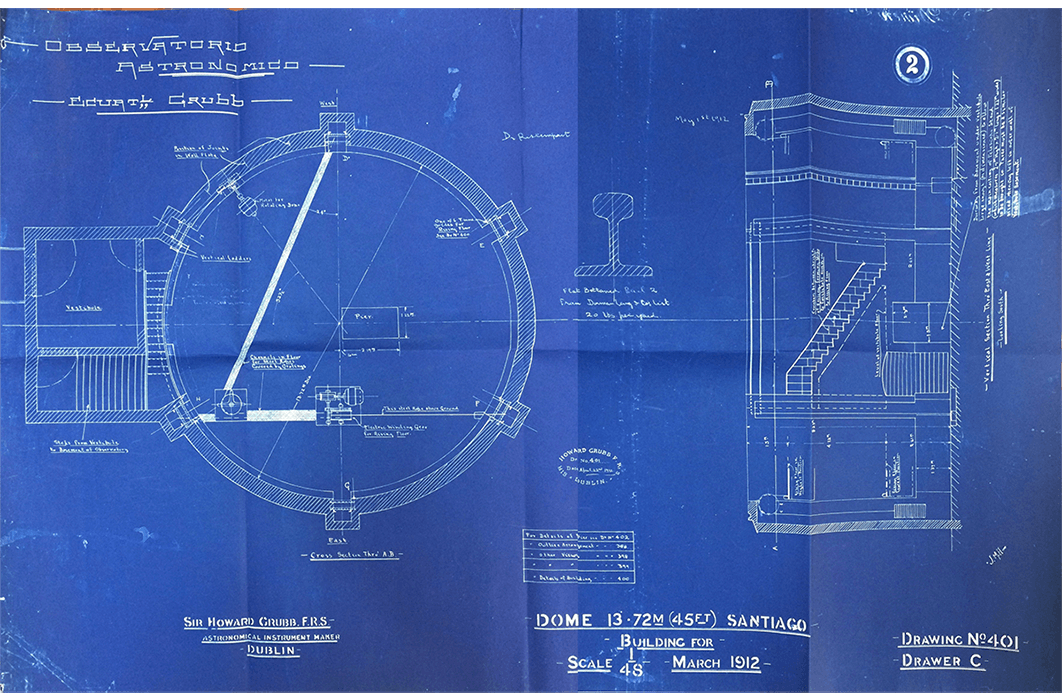 Plano Cúpula Observatorio Astronómico - Tesis Antonia Cabezón - 2016